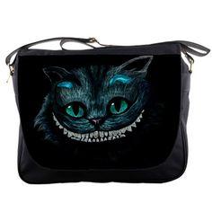 "Cheshire Cat 14"" Messenger Alice In Wonderland Movie Shoulder Sling School Laptop NoteBook School Bags"