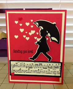Singing in the Rain card made with A Child's Year Cricut cartridge.