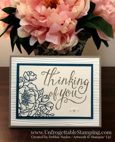 Unfrogettable Stamping   QE thinking of you card featuring the Birthday Blooms and Time of Year stamp sets by Stampin' Up! for the week of 2017-04-24