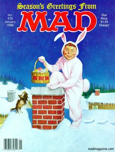 MAD Magazine Cover 276 Merry Easter Alfred E Neuman Richard Williams I have original oil paintings available on my ebay! check them out! treat yourself for the holidays! happy bidding!  http://www.ebay.com/itm/301050066155 thank you Richard Williams