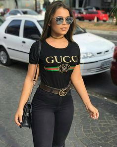 46 Most Popular Casual Jeans Outfit Cute Casual Outfits, Fall Outfits, Summer Outfits, Casual Jeans, Look Fashion, Teen Fashion, Womens Fashion, Fashion Wear, Gucci Outfits
