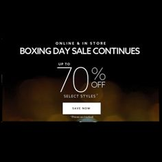Extended Boxing Day Sales at Dynamite! Save Up to 70% Off Select Styles  http://www.mrsjanuary.com