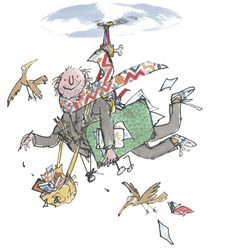 Quentin Blake (born cartoonist, illustrator and children's writer. Imaginative and dynamic! Roald Dahl Characters, Roald Dahl Books, Leo Lionni, Roald Dalh, Chris Riddell, Quentin Blake Illustrations, Children's Book Writers, Children's Book Illustration, Book Illustrations