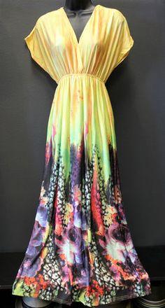 India Boutique Kimono Style Maxi Dress in Three Colors Free Size   eBay