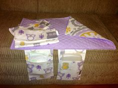 Baby Changing Pad and Diaper Clutch in by OhhSewSweetByJess, $24.00