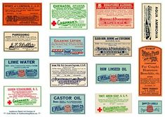 apothecary labels from Cathe Holden