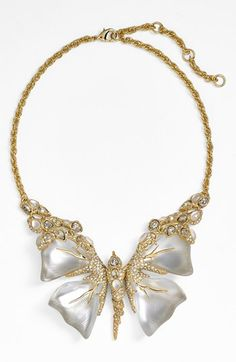 Alexis Bittar 'Lucite® - Jardin Mystère' Butterfly Bib Necklace available at #Nordstrom . For more about fashion , beauty and decor please follow www.womengoldensecrets.blogspot.com .