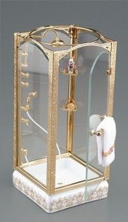 Dollhouse Miniature Glass Shower