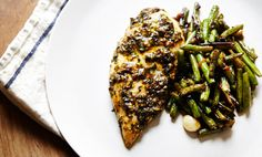 On the Menu: Chicken with Scallion Chimichurri & Garlic Green Beans