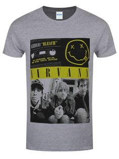 There is perhaps no debut album more spectacular than Nirvana's Bleach. Featuring incredible tracks such as 'About a Girl' and 'Love Buzz', this record sparked the beginnings of the grunge group's phenomenal career. This epic t-shirt features the awesome cassette artwork, and will let the world know you have exemplary music taste. Official merch.