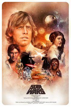 Star Wars: A New Hope Poster - Richard Davies