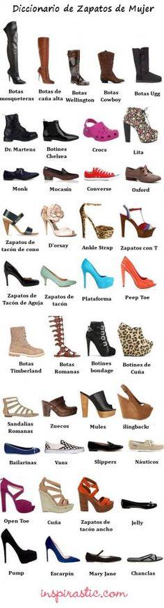 Guía para que puedas conocer los diferentes tipos de zapatos de verano. #zapatos #guía #trendy