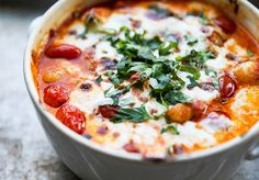 Easy Baked Gnocchi with Tomatoes and Mozzarella