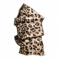 Ocelot Oblong Scarf from Coach...this is also in MY CLOSET FOR THE FALL...LOVE IT! MATCHES MY HANDBAG! ALRIGHT I AM DONE MY CHRISTMAS SHOPPING FOR ME...LOL