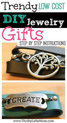 Looking for a trendy low cost DIY Jewelry gifts to make and give? This project is perfect for the crafty and un-craftly alike. Jewelry you can't mess up.