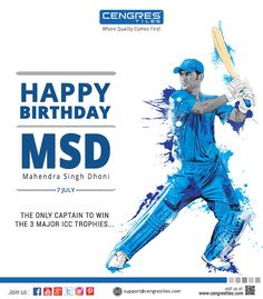 Wishing Happy Birthday to a legend of the game and the Man who inspires Millions - MS Dhoni.    Thank you for all that you have done and wish you the best in life.  #HappyBirthdayMSD #HappyBirthday #HappyBirthdayDhoni #MSDhoni #MS_Dhoni #Dhoni