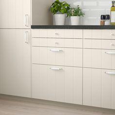 HITTARP Schubladenfront elfenbeinweiß Ikea Family, Off White Color, Drawer Fronts, Küchen Design, Cleaning Wipes, Keep It Cleaner, Locker Storage, Drawers, Kitchen Cabinets