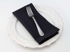 Dinner Napkin in Black from Southern Sisters Home