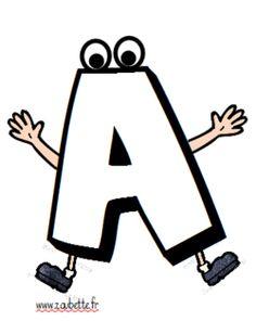 Couverture du cahier de vie - MS-GS Smurf Village, Alphabet A, Petite Section, Grande Section, Teaching French, Ms Gs, Teaching Kids, Preschool, Doodles