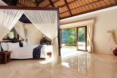 The Viceroy Villa Bedroom at The Viceroy Ubud in #Bali is light and airy, letting the jungle breeze circulate.