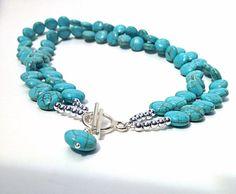 NEW  versatile necklace  chunky turquoise by BijouxDesignsStudio, $39.00