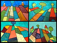 Pattern landscapes very easy and fun for the first week back