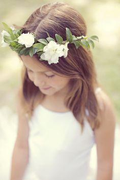 Simple, beautiful floral crown