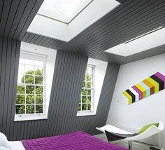 chambre sous les combles couleurs-contraste-gris-lilas-mur-incliné