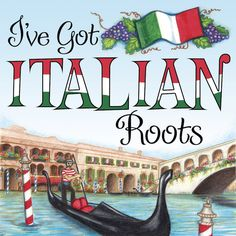 Italian Gift Ideas: Italian Roots Magnet Tile