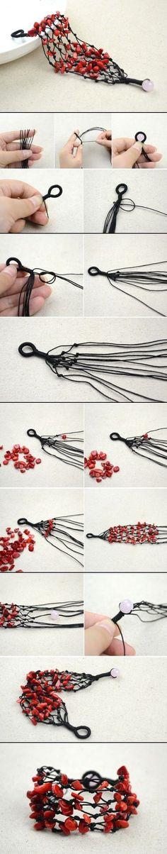 DIY Coral Beads Bracelet