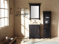 Be your own kind of beautiful Bathroom Wall Decal, Bathroom Decal, Wall Decal, Bath Decal, Home Decor, Vinyl Wall Decal, Decal, Bath Decor by SimplyDecalsforYou on Etsy