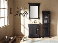 5 Satisfied Clever Tips: Minimalist Home Tips Spring Cleaning minimalist interior bedroom mirror.Warm Minimalist Home Decor minimalist bedroom carpet rugs. Black Vanity Bathroom, Small Bathroom Vanities, Wooden Bathroom, Small Bathrooms, Bathroom Storage, Small Vanity, Wooden Vanity, Bathroom Vintage, Vanity Mirrors