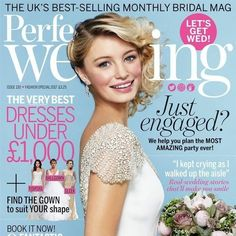 In this issue:  FREE WEDDING notebook!  The very best dresses under £1000  + find the gown to suit YOUR shape.. fishtail, ballgown, sleek  Book it now! 9 fantastic honeymoons - for every couple's vibe  #Gorgeous reception styling ideas that will make your day stand out  PLUS Dresses to suit your shape  Just engaged? We help you plan the MOST amazing party ever!  Real-wedding stories that'll make you smile