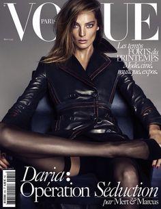 Vogue Paris   Daria   Leather trench