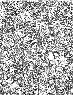 adult doodle art doodling 18 coloring pages printable and coloring book to print for free. Find more coloring pages online for kids and adults of adult doodle art doodling 18 coloring pages to print. Doodle Coloring, Coloring Pages To Print, Mandala Coloring, Coloring Book Pages, Printable Coloring Pages, Coloring Pages For Kids, Coloring Sheets, Kids Coloring, Doodles