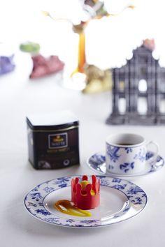 Yata Watte et Financier aux fèves Tonka, Parfait aux fruits asiatiques et crème de curry vert par le MGM Macau #DilmahRHT #GlobalChallenge #teagastronomy #recipes #tea
