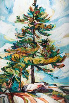 Landscape Art, Landscape Paintings, Acrylic Art Paintings, Portrait Paintings, Painting Abstract, Painting Inspiration, Art Inspo, Tree Art, Painting Techniques