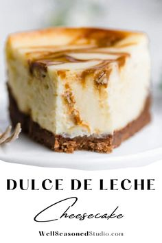 The chocolate chip cookie crust is foolproof, and the filling is oh so creamy and smooth. Simple, seriously impressive, and worth the effort! #cheesecake #dulcedeleche #dessert @wellseasonedstudio | wellseasonedstudio.com