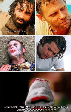 (gif set) Mark Pellegrino and Misha Collins in Lost and Moving Alan // Mr. Fizzles knows all.
