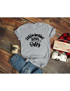 e56410d1 Mom Mommin' it ain't Easy T shirt - Mom Mother T shirt - Heather gray  T-shirt - Bella T shirt - Soft Tee - Womens/Unisex T- shirt