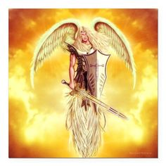 "Angel Michael Square Car Magnet 3"" x 3"" on CafePress.com"