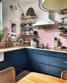 Hey guys, how are you all? I've been pretty useless at posting or even being on here🙈 so apologies. We've been really lucky with the… Kitchen Tiles, Kitchen Decor, Kitchen Cabinets, Cabinet Furniture, Kitchen Furniture, Honeycomb Tile, Hexagon Tiles, Narrow Kitchen, Tile Design