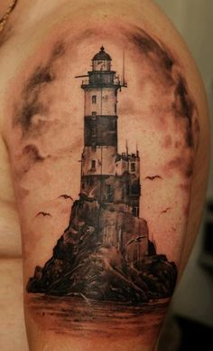 This is beautiful, so similar to what I had imagined for my own light house tattoo.