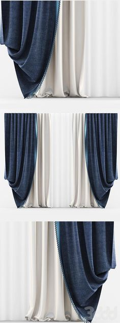 3d модели: Шторы - Curtains Classic Blue