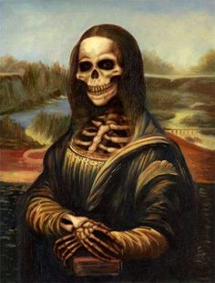 Cute and Funny Pictures and more: Mona Lisa in Skeleton