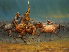 The Wild Ones is a 1 panel oil canvas art piece in a Contemporary art style by famous artist Andy Thomas. This custom canvas painting will be handpainted with exceptional detail & quality perfect even for museum or gallery display. Western Wild, Cowboy Images, Cowboys And Indians, Cowboy Art, Le Far West, Wild Ones, Native American Art, Native Art, Old West