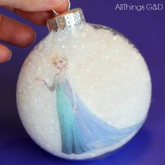 Princess Elsa Ornament  http://www.allthingsgd.com/2014/11/princess-elsa-ornament/