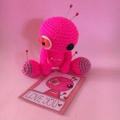 Amigurumi Pink Love Voodoo Doll by cutedesigns on Etsy