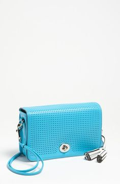 legacy - penelope by coach. perforated leather
