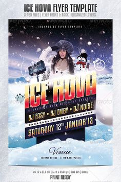 winter ice snow party entry flyer poster template free club party psd flyer templates - free premium psd flyer templates to download Psd Flyer Templates, Templates Free, Snow Party, Club Poster, Club Parties, Showcase Design, Design Tutorials, Flyer Design, Photoshop